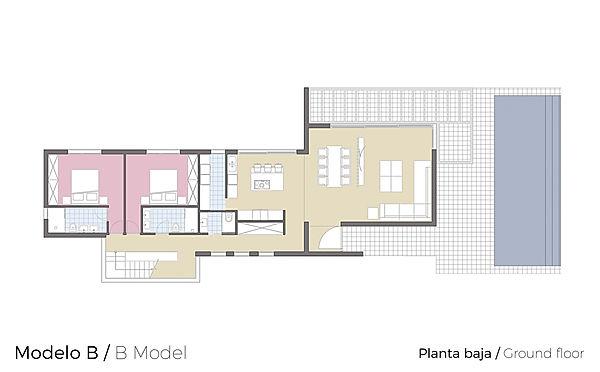Plano Planta Baja Tosalet Dream Modelo B
