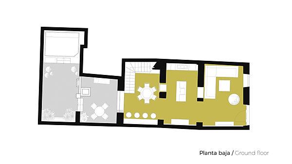 Plano Planta Baja Casa de pueblo Jávea