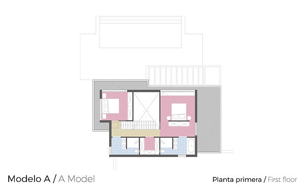 Plano Planta Primera Tosalet Dream Modelo A Jávea