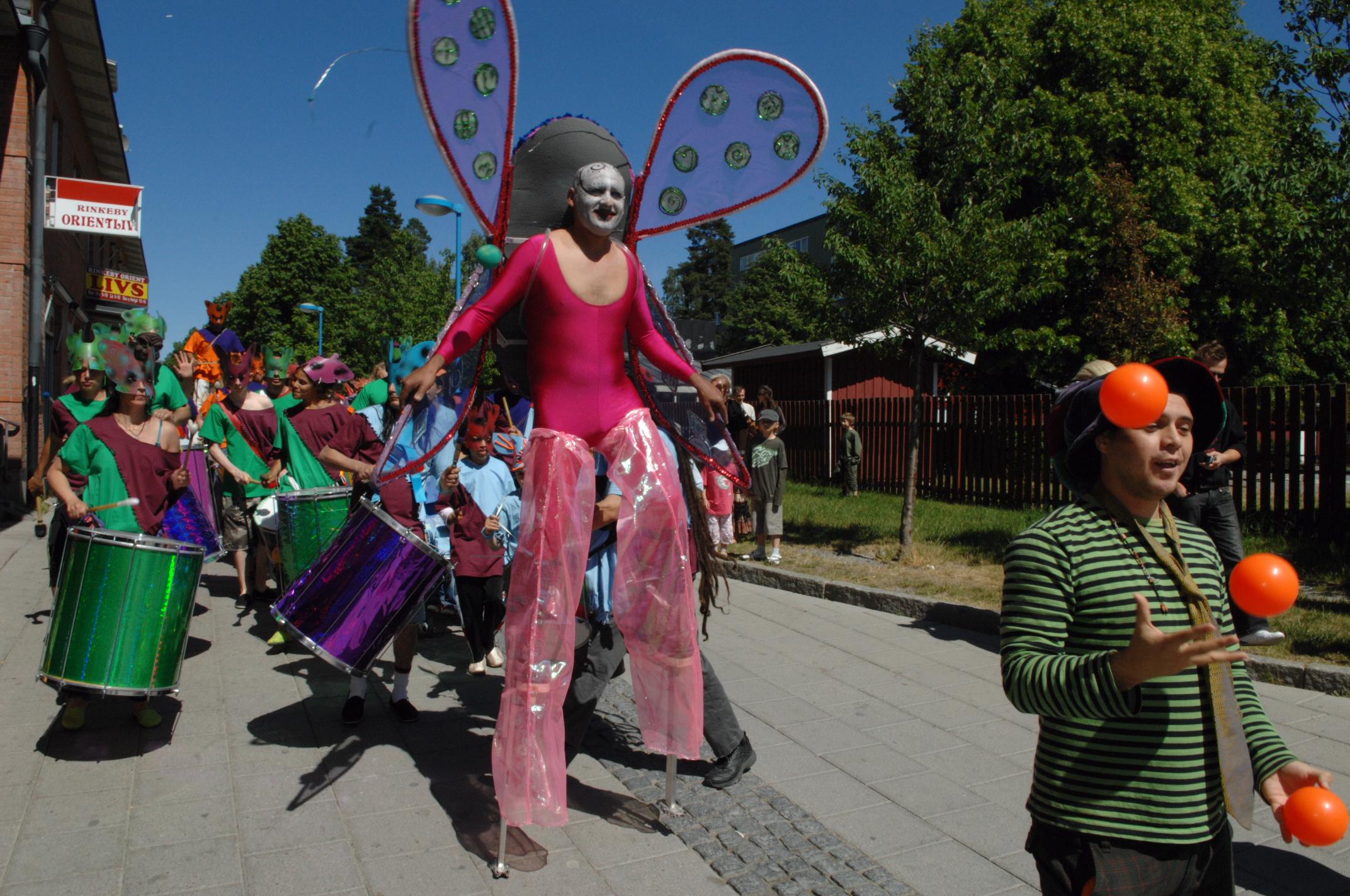 Karneval för barn&barnsliga, Rinkeby