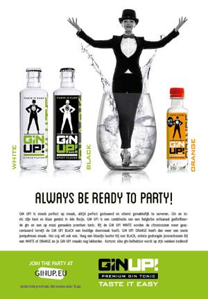 GIN UP! advertentie