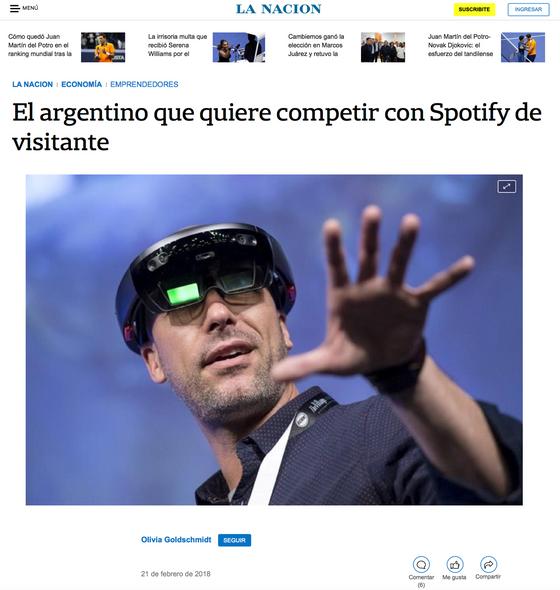 La Nación:El Argentino que quiere competir con Spotify de visitante