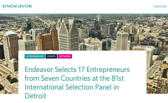 Endeavor Selects 17 Entrepreneurs from Seven Countries at the 81st International Selection Panel in