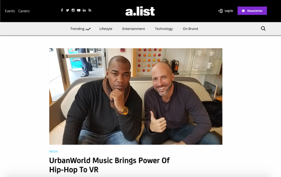 A.List:UrbanWorld Music Brings Power Of Hip-Hop To VR