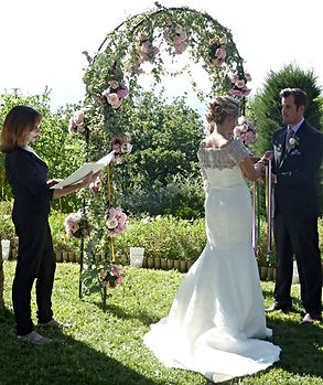 Handfasting with Azur Flowers arch
