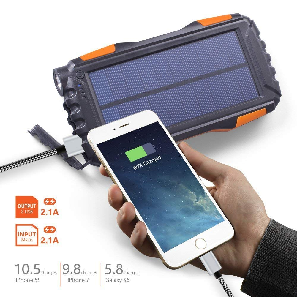 Best Portable Solar Power Bank With LED Indicators