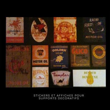 Conception et réalisation affiches et stickers pour décors