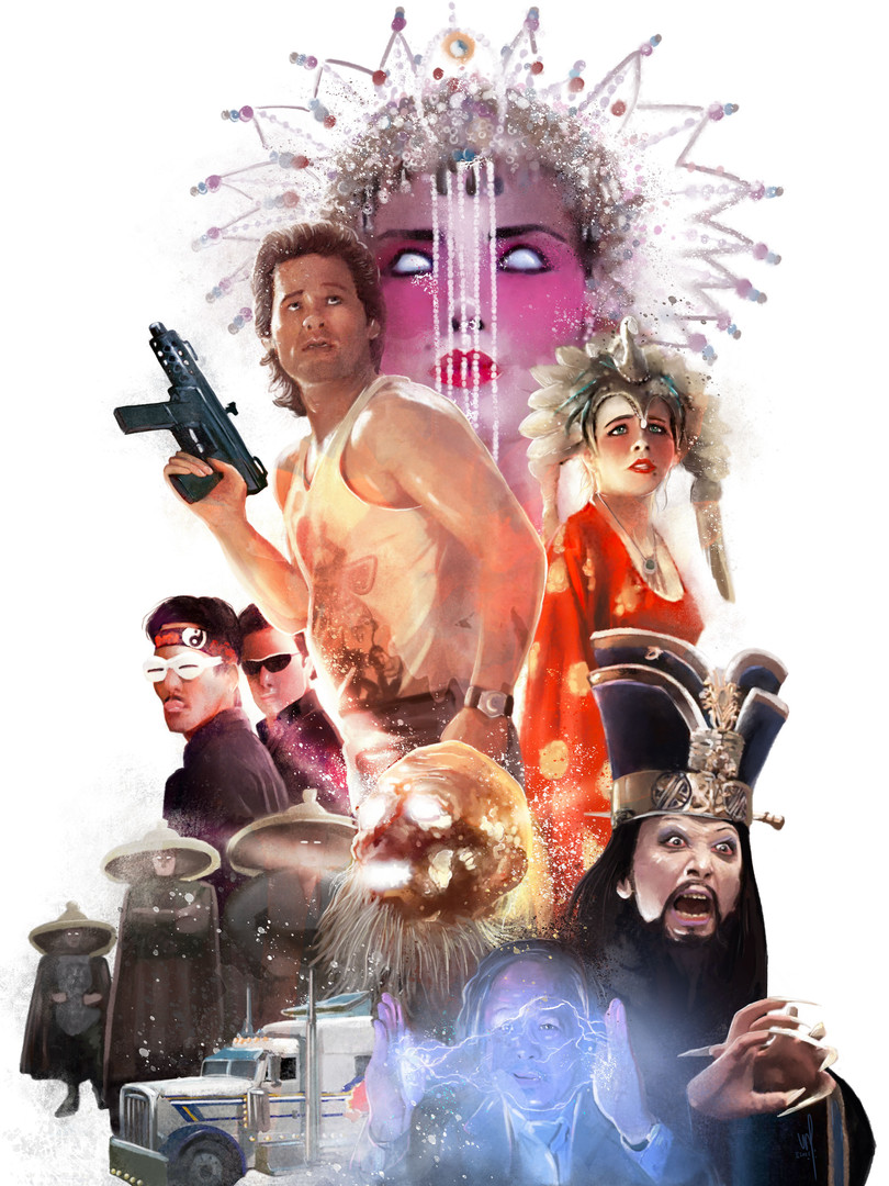 """Affiche """"Big Trouble in Little China"""""""