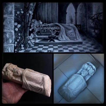 Dessin et sculpture pour maquette de présentation