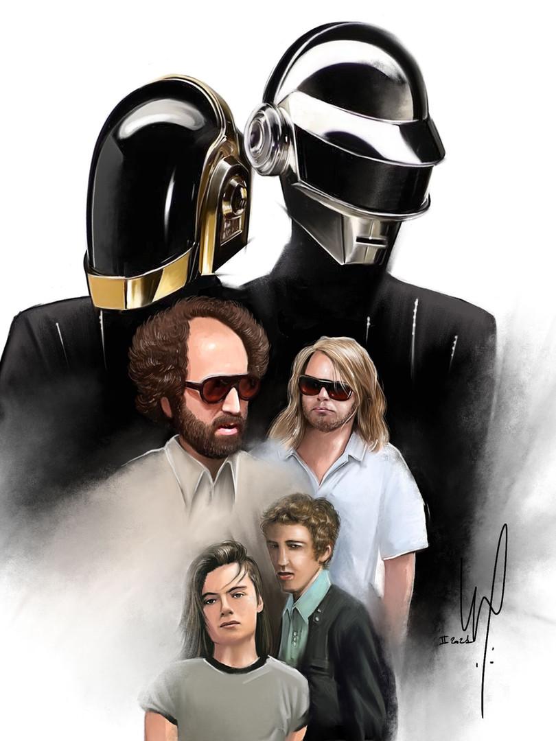 """Affiche """"Daft Punk"""""""