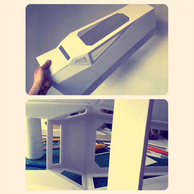 Réalisation maquette vaisseau pour prototype animé