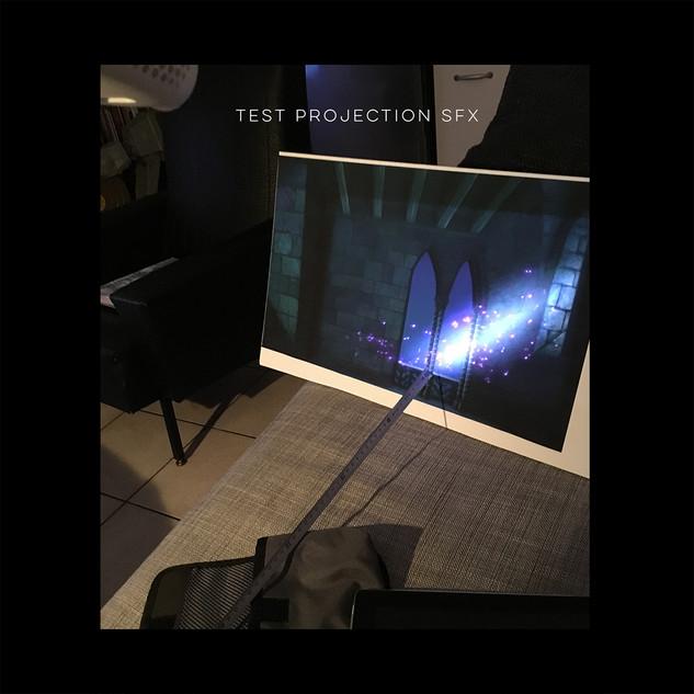 Test de projection pour vitrine