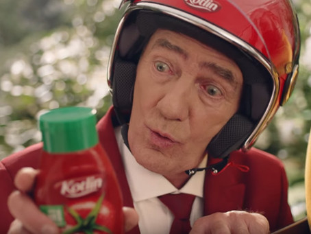Karol Strasburger w reklamie keczupów Kotlin
