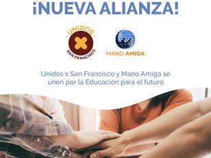 Unidos x San Francisco junto a Pilará realizan una alianza con Fundación Mano Amiga