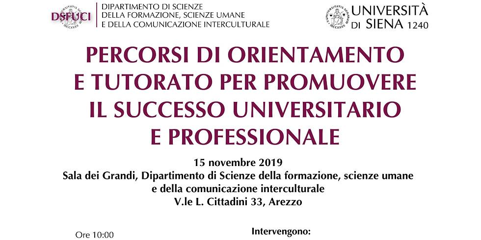 """Workshop """"Percorsi di orientamento e tutorato per promuovere il successo universitario e professionale"""""""