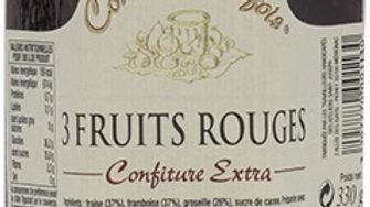 CONFITURE 3 FRUITS ROUGES 330GR comme autrefois