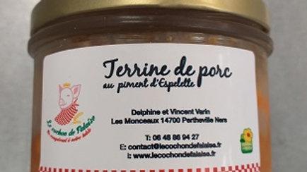 TERRINE DE PORC au piment d'Espelette (0.180kg)