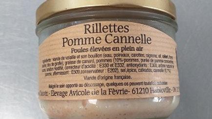 RILLETTES DE POULE POMME CANNELLE 170G