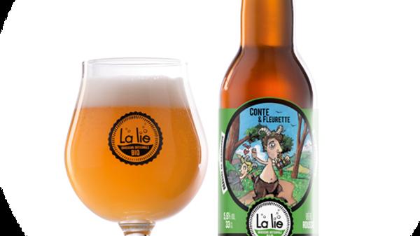 Bière BIO - Conte & Fleurette  Bière rousse 33cl