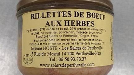 RILLETTES DE BOEUF AUX HERBES 0.200KG