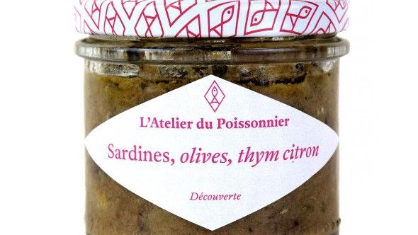 RILLETTES DE SARDINES OLIVES THYM CITRON 90G