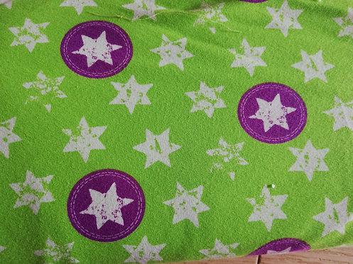 Jersey étoiles violet blanc fond vert