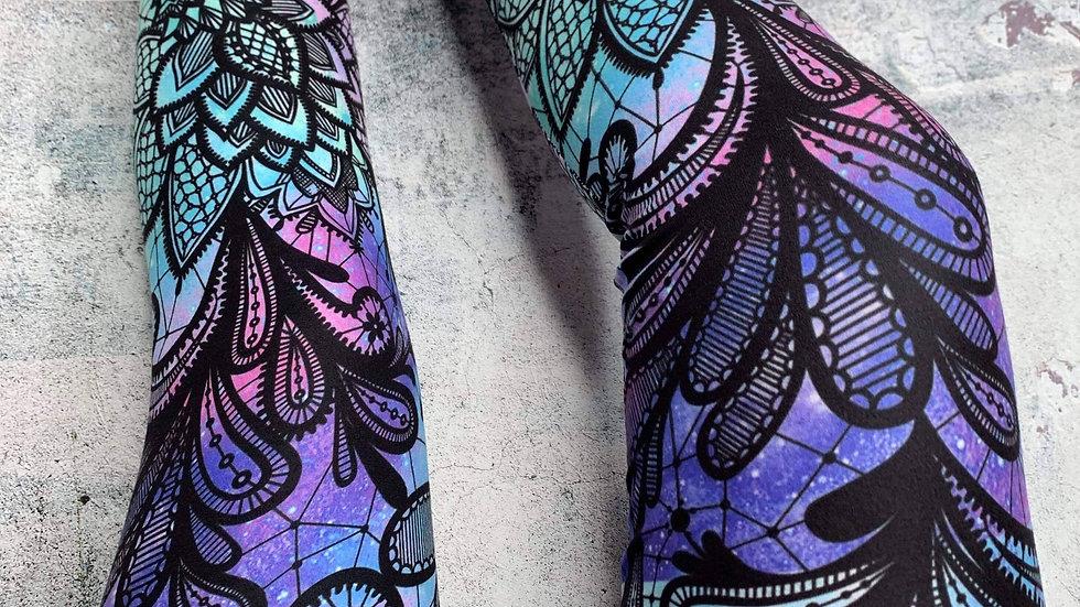 Tie-Dye Lace Leggings - RTS