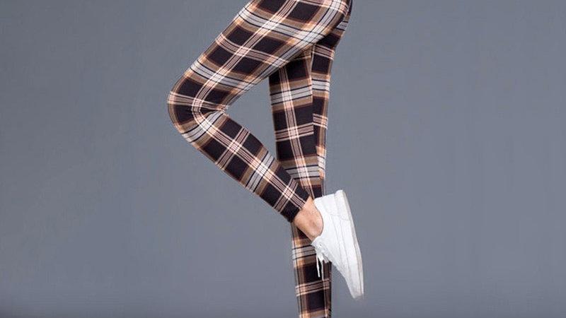 Plaid Leggings Women Sexy Pants Push Up Leggings Fashion Fitness Leggins