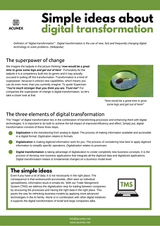 Simple ideas about digital transformatio