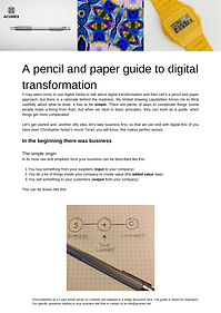 A pencil and paper guide to digital tran