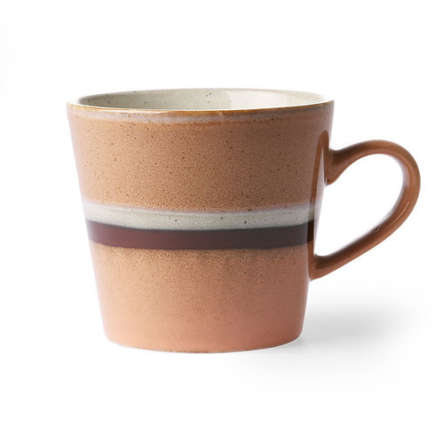 Cappuccino mug, 70s ceramics, HK LIVING ACE6865