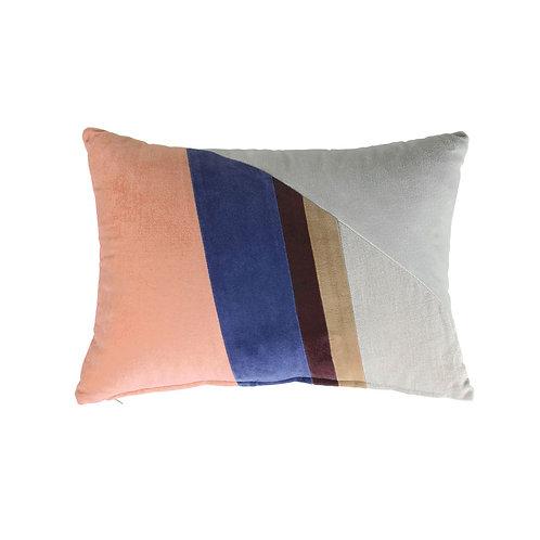 velvet patch cushion multicolour b (35x50)