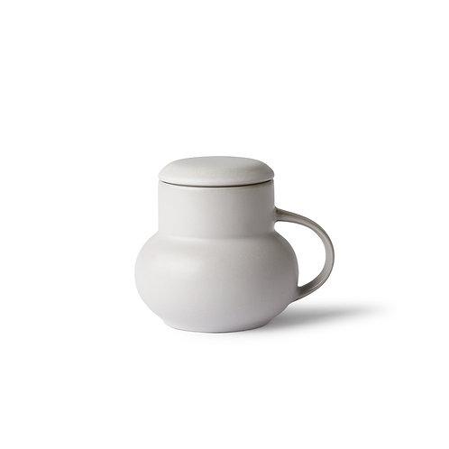 Ceramic bubble tea mug m light grey HK LIVING ACE6908