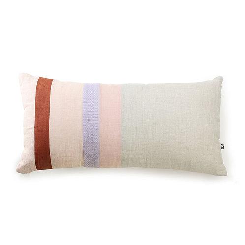 linen striped cushion b