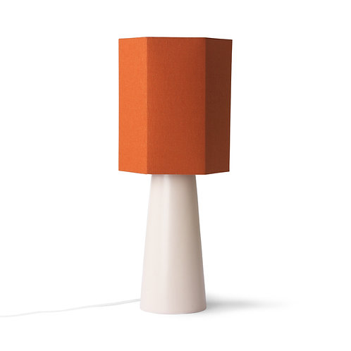 cone lamp base L matt skin - orange