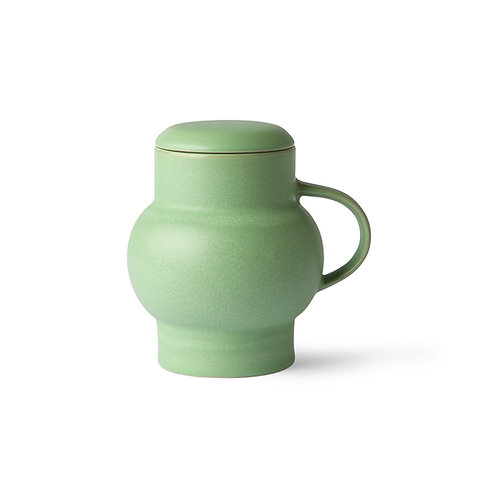 Ceramic bubble tea mug l mint green HK LIVING  ACE6907