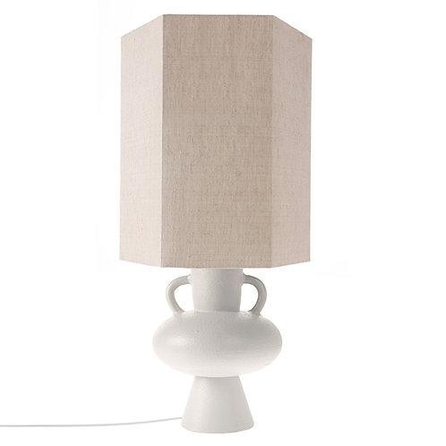stoneware lamp base white l