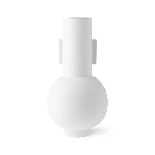 Matt white vase L