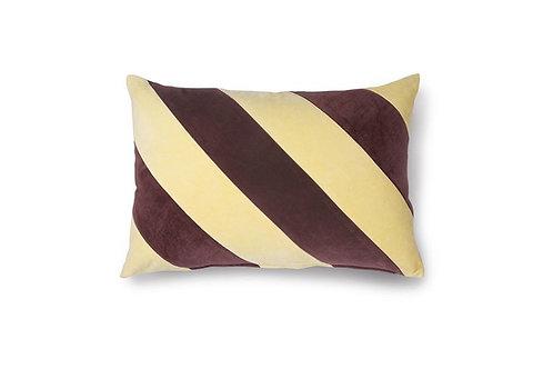 Cuscino a righe in velluto giallo e viola HK Living TKU2081