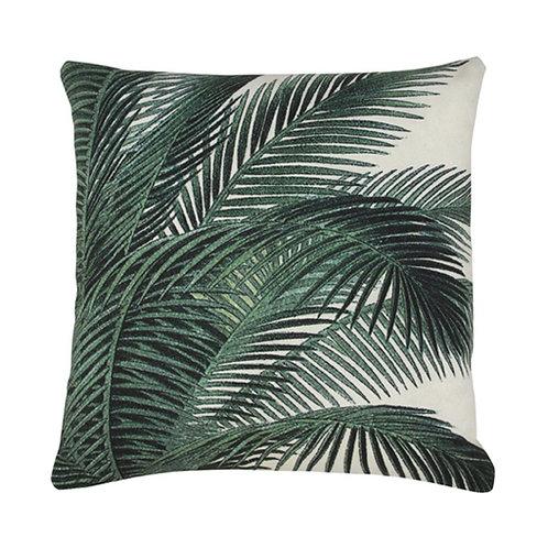 Printed cushion palm leaves