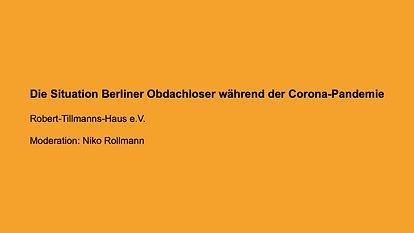Die Situation Berliner Obdachloser während der Corona-Pandemie