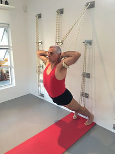 yoga kurunta  iyengar yoga practice with wall ropes