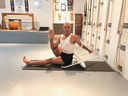 iyengar yoga practice with the chair