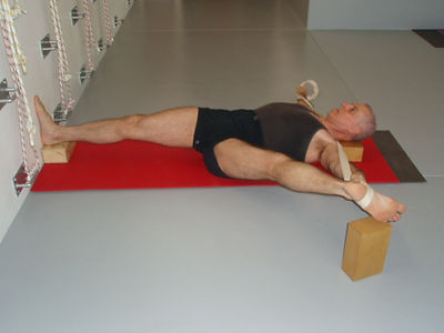 yoga with blocks, david iyengar yoga practice with blocks, south africa