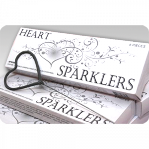 HEART SHAPED GOLD SPARKLER