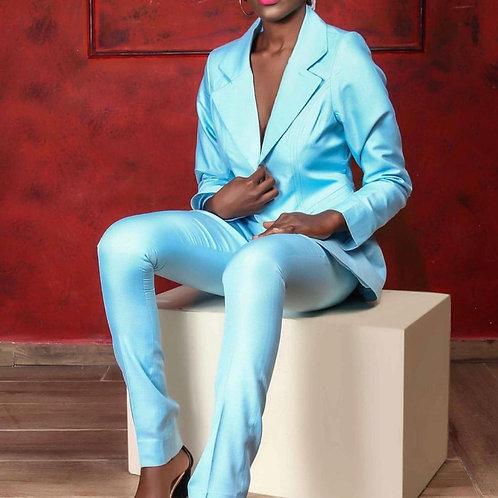 Light Blue Oversized Blazer