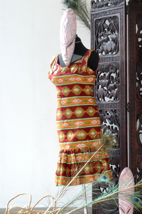 Sleeveless Ankara Dress