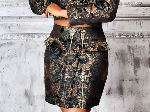 Damask Wrap Skirt