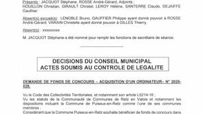 Information : Compte rendu Conseil Municipal du 29 Octobre 2020