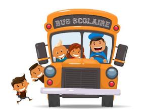 Information : Emplacement réservé aux manœuvres du car scolaire